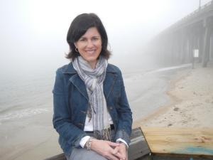 Kathleen Jabs at the beach